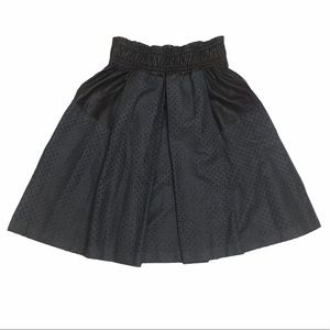 Damir Doma Wool Leather Pleated Skater Skirt IT 36